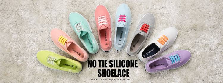 No Tie Elastic Shoelaces for Kids Adults