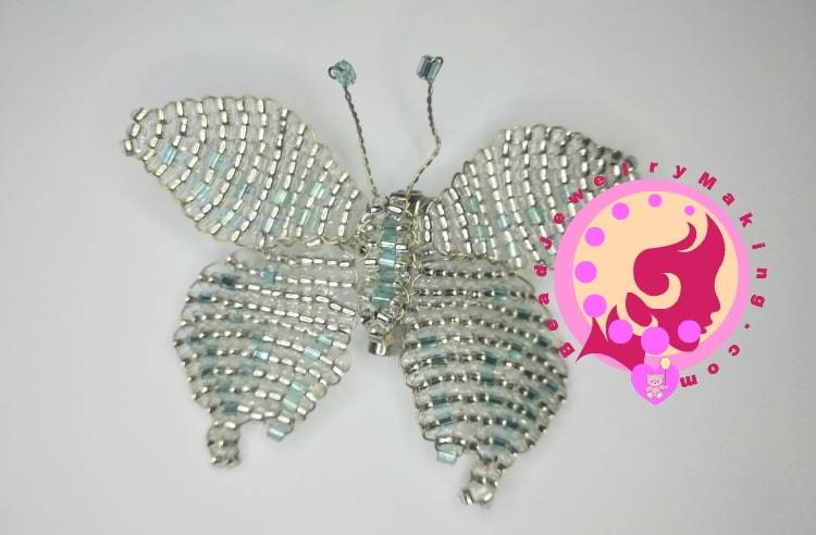 Beaded Butterfly Brooch Jewelry
