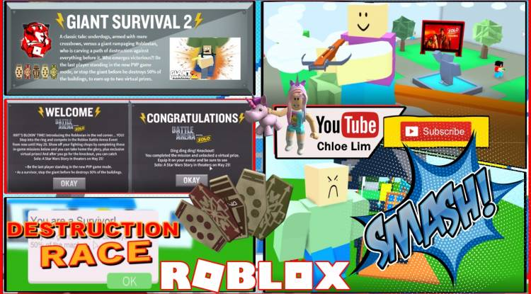 Roblox Giant Survival 2 Gamelog - May 17 2018