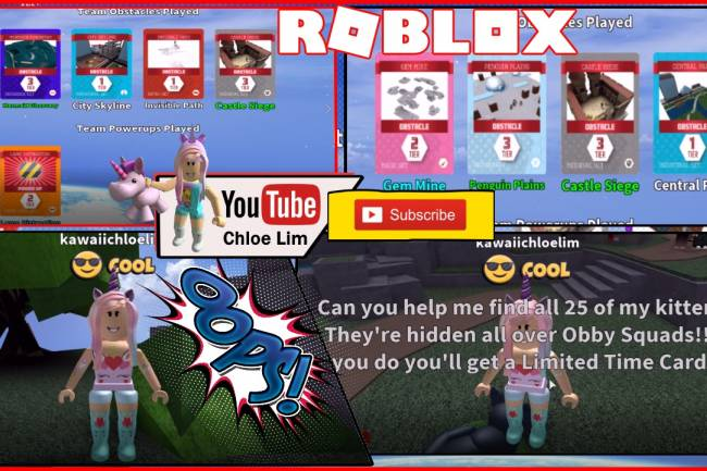 Roblox Obby Squads Gamelog - May 2 2018